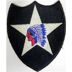 LARGE U.S. WWII 2ND DIVISION PATCH