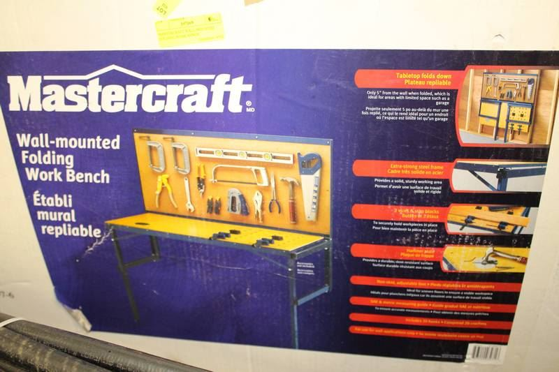 Mastercraft Wall Mounted Folding Work Bench