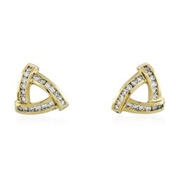 14KT Yellow Gold 1.47 ctw Diamond Earrings