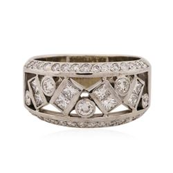 14KT White Gold 1.05 ctw Diamond Ring