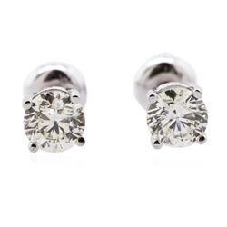 14KT White Gold 1.00 ctw Diamond Solitaire Earrings