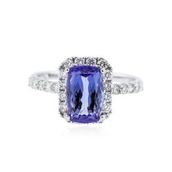 18KT White Gold 2.31 ctw Tanzanite and Diamond Ring