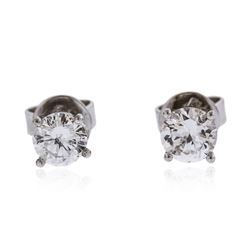 14KT White Gold 0.63 ctw Diamond Stud Earrings