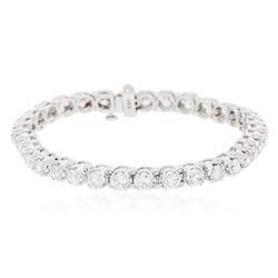 14KT White Gold 7.89 ctw Diamond Tennis  Bracelet