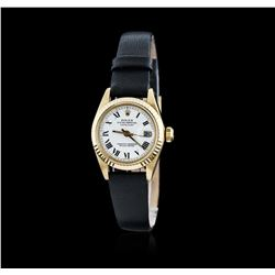 Ladies 18KT Yellow Gold Rolex DateJust Wristwatch