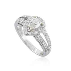 18KT White Gold 1.01 ctw Diamond Ring