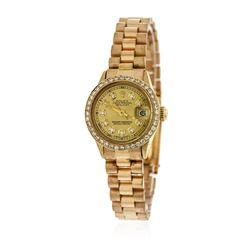 Ladies Rolex 18KT Yellow Gold Diamond DateJust Wristwatch