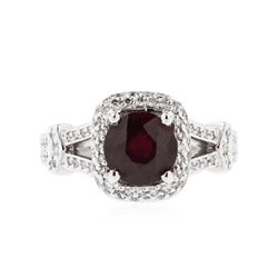 14KT White Gold 2.20 ctw Ruby and Diamond Ring