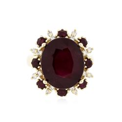 14KT White Gold 9.53 ctw Ruby and Diamond Ring