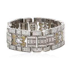 14KT White Gold 14.92 ctw Diamond Bracelet