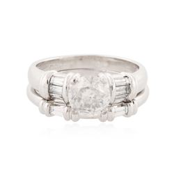 Platinum 2.00 ctw Diamond Ring Wedding Set