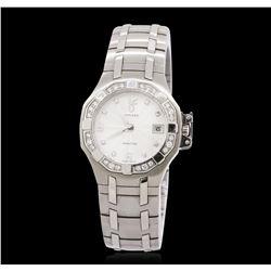 Ladies Concord Saratoga Stainless Steel 0.22 ctw Diamond Wristwatch
