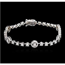 14KT White Gold 2.23 ctw Diamond Bracelet