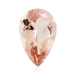 13.02 ctw. Natural Pear Cut Morganite