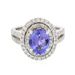 14KT White Gold 2.68 ctw Tanzanite and Diamond Ring