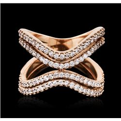 18KT Rose Gold 0.90 ctw Diamond Ring