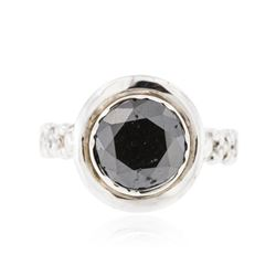 14KT White Gold 3.49 ctw Black Diamond Ring