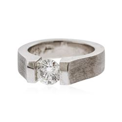 14KT White Gold 1.10 ctw Round Brilliant Cut Diamond Solitaire Ring