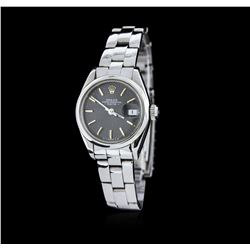 Ladies Rolex Stainless Steel Date Model Wristwatch