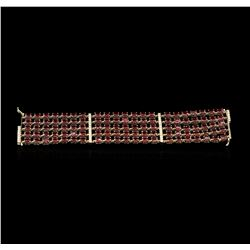 14KT Yellow Gold 60.90 ctw Ruby and Diamond Bracelet