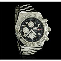 Gents Breitling Stainless Steel Super Avenger Diamond Wristwatch