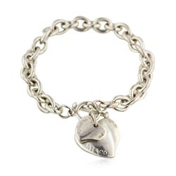 Tiffany & Co. Sterling Silver Twin Heart Tag Bracelet