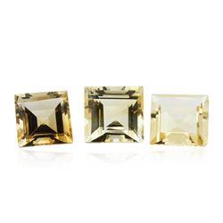 19.85 ctw Square Cut Citrine Quartz Parcel