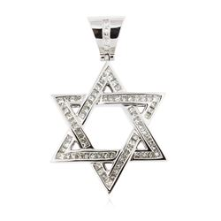 14KT White Gold 3.79 ctw Diamond Star of David Pendant