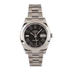 Gents Rolex Stainless Steel DateJust Wristwatch