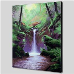 Woodland Cascade by  Jon Rattenbury
