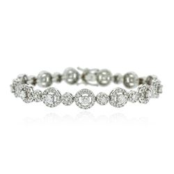 14KT White Gold 4.56 ctw Diamond Bracelet
