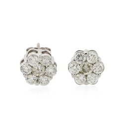 14KT White Gold 1.20 ctw Diamond Earrings