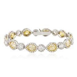 Platinum EGL USA Certified 14.88 ctw Fancy Yellow Diamond Bracelet