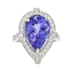 18KT White Gold 8.23 ctw Tanzanite and Diamond Ring