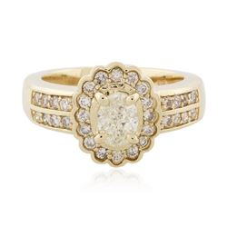 14KT Yellow Gold 1.23 ctw Diamond Ring