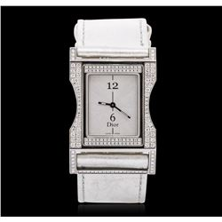 Stainless Steel 2.00 ctw Diamond Christian Dior Wristwatch