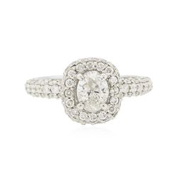 14KT White Gold 1.29 ctw Diamond Ring