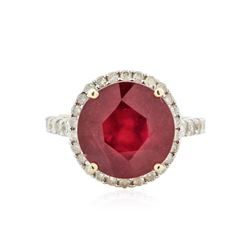 14KT Yellow Gold 8.81 ctw Ruby and Diamond Ring