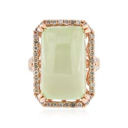 14KT Rose Gold 25.76 ctw Tourmaline and Diamond Ring
