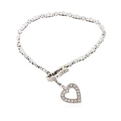 14KT White Gold 0.68 ctw Diamond Bracelet