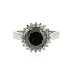 14KT White Gold 5.64 ctw Black Diamond Ring