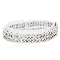 14KT White Gold 6.54 ctw Diamond Bracelet