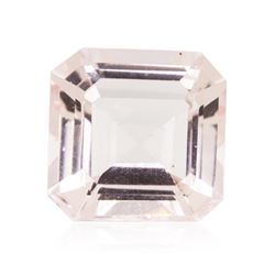 5.53 ctw. Natural Square Princess Cut Morganite
