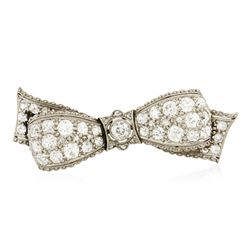 18KT White Gold 3.66 ctw Diamond Brooch