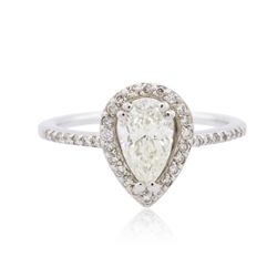 14KT White Gold 0.96 ctw Diamond Ring