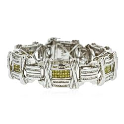 14KT White Gold 12.50 ctw Diamond Bracelet