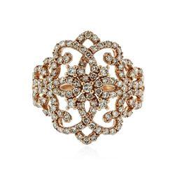 14KT Rose Gold 1.10 ctw Diamond Ring