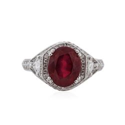 18KT White Gold 3.02 ctw Ruby and Diamond Ring