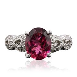 14KT White Gold 2.95 ctw Pink Sapphire and Diamond Ring