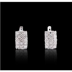 14KT White Gold 2.41 ctw Diamond Earrings